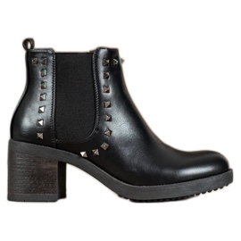 Top Shoes Botas Com Studs preto