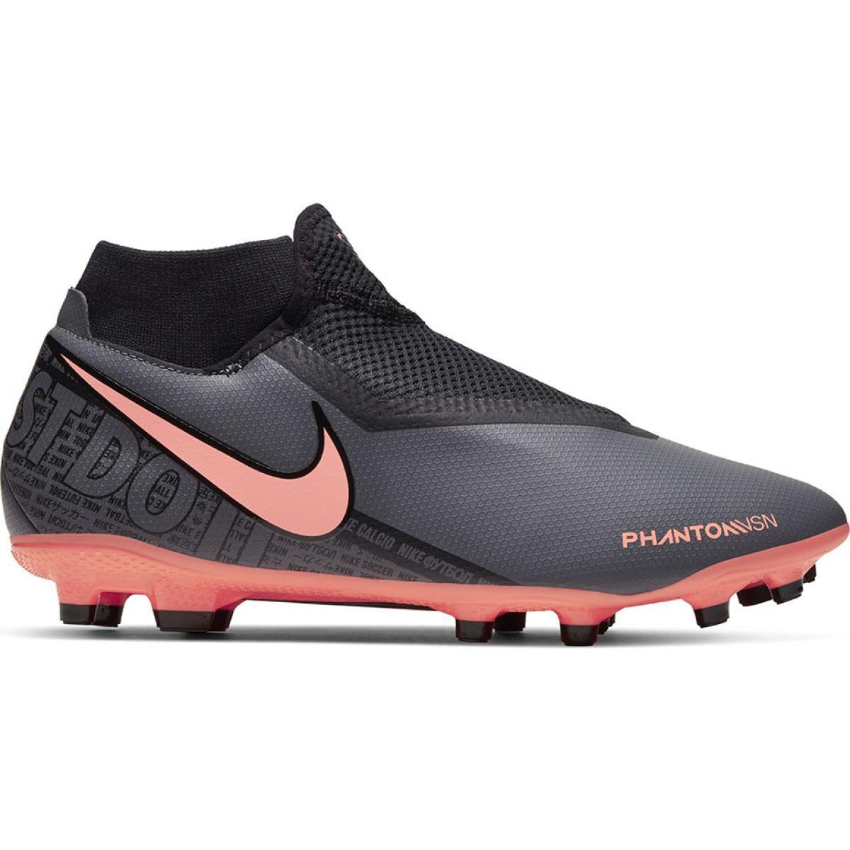 Nike Phantom Vision Elite DF FG Azul Preto Prateado