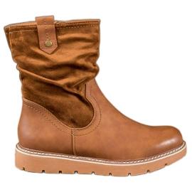 Ideal Shoes Trabalhadores da Plataforma marrom