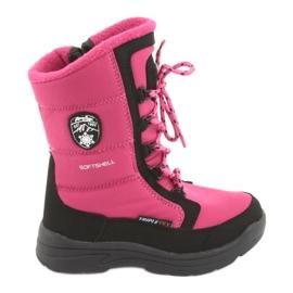 American Club Botas de neve com membrana americana rosa / preta SN13
