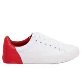 Tênis branco e vermelho para mulher A88-29 W-RED II Type