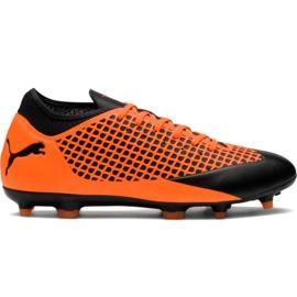 Chuteiras de futebol de Puma Future 2.4 Fg Ag 104839 02 laranja preto, laranja