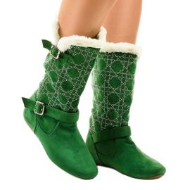 Botas verdes meia-panturrilha R100