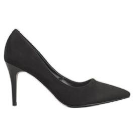 Kylie Saltos de camurça clássicos preto
