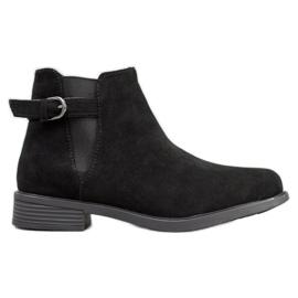 Ideal Shoes Botas De Camurça preto
