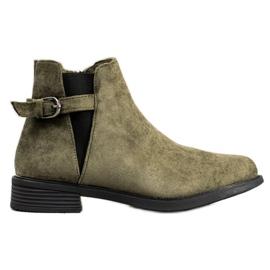 Ideal Shoes Botas De Camurça verde
