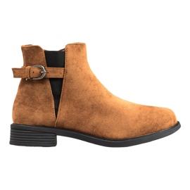 Ideal Shoes Botas De Camurça marrom