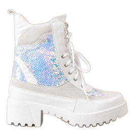 Seastar Botas na plataforma da moda branco