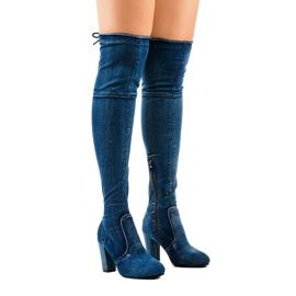 Botas jeans clássicas HX15135-3B azul