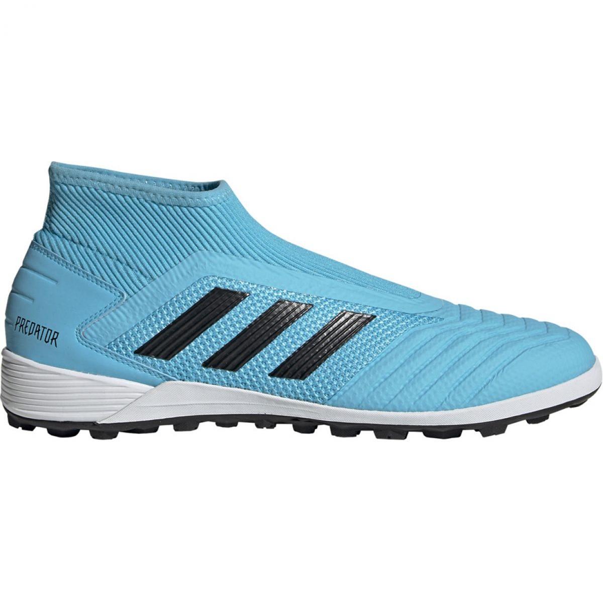 Chuteiras de futebol Adidas Predator 19.3 Ll Tf M EF0389 preto, azul azul