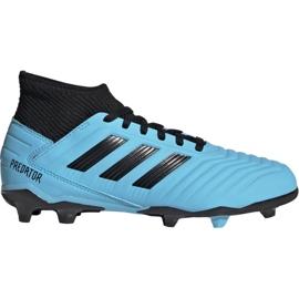 Chuteiras de futebol Adidas Predator 19.3 Fg Jr G25796 azul preto, azul