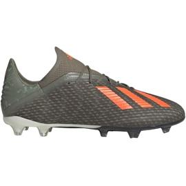 Chuteiras de futebol Adidas X 19.2 Fg M EF8364 verde cinza
