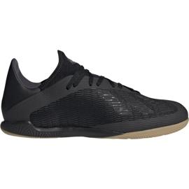 Chuteiras de futebol Adidas X 19.3 In M F35369 preto preto