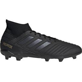 Chuteiras de futebol Adidas Predator 19.3 Fg M F35594 preto preto