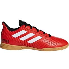 Chuteiras de futebol Adidas Predator Tango 18.4 Sala Jr DB2343 vermelho