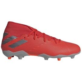Chuteiras de futebol Adidas Nemeziz 19.3 Fg M F34389 vermelho, cinza / prata vermelho