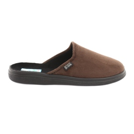 Sapatos masculinos befado pu 125M008 marrom