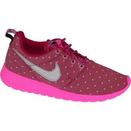 Sapatilhas Nike Rosherun Print Gs W 677784-606 -de-rosa