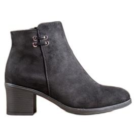 Clowse Botas pretas de tornozelo preto