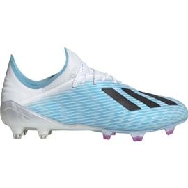 Chuteiras de futebol Adidas X 19.1 M Fg F35316 branco, azul azul