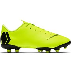 Chuteiras de futebol Nike Mercurial Vapor 12 Academy Mg Jr AH7347 701 amarelo