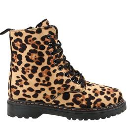 Botas com leopardo DJH01-18