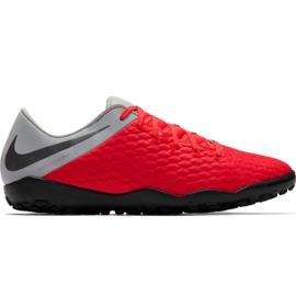 Chuteiras de futebol Nike Hypervenom Phantom X 3 Academy Tf M AJ3815 600 preto, vermelho, cinza / prata