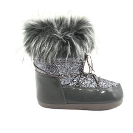 Botas de neve confortáveis cinza