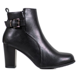 J. Star Botas confortáveis preto