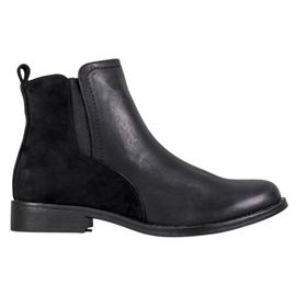 J. Star Botas pretas elegantes do tornozelo preto