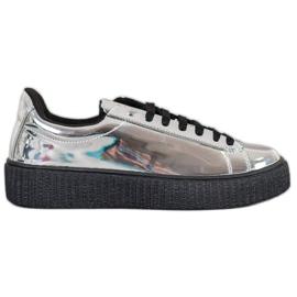 Corina Sapatos de plataforma prata cinza