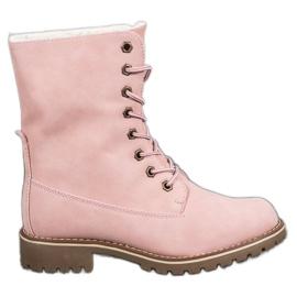SHELOVET Sapatilhas com parte superior de enrolar -de-rosa