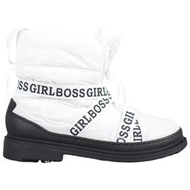 Vices Botas de neve Girl Boss branco