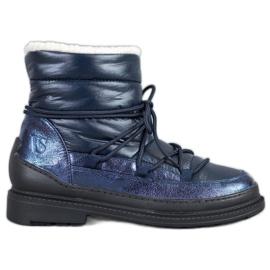 Botas de neve em tecido VICES azul