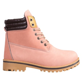 SHELOVET Botas de plataforma quente -de-rosa