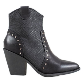 Small Swan Botas de Cowboy Quentes preto