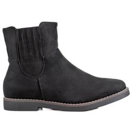 Clowse Botas de camurça confortáveis preto