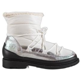 Botas de neve em tecido VICES branco