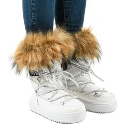 Botas brancas de neve com pêlo 119-39 branco