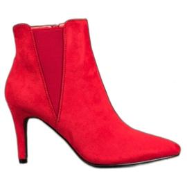 Marquiz Botas de tornozelo vermelho