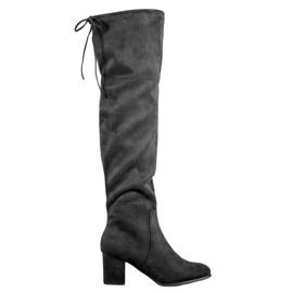 Clowse Botas de camurça elegante preto