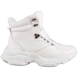 Ideal Shoes Tênis de couro ecológico branco