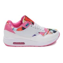 Sapatas do Esporte Tênis Sneakers Neon R-50 Branco