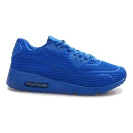 Sapatos de malha azul