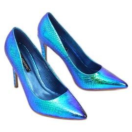 SY54P Pinos holográficos azuis multicolorido