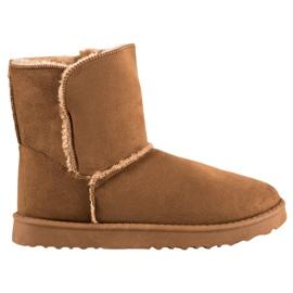 Lucky Shoes Botas de neve de camelo marrom