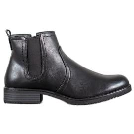 J. Star Botas pretas de tornozelo preto