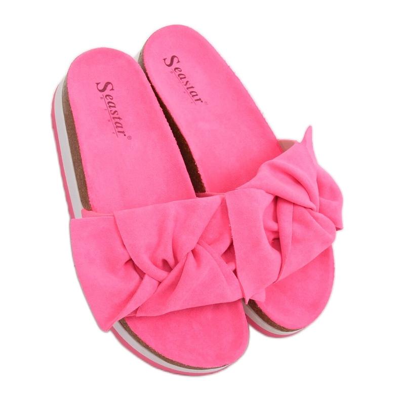 Chinelos femininos rosa SS116P Fushia