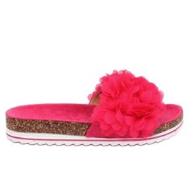 Pantufas flor fúcsia BG47P fúcsia rosa