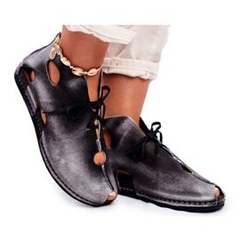 Sapatos femininos Maciejka Popiel 03426-03 cinza
